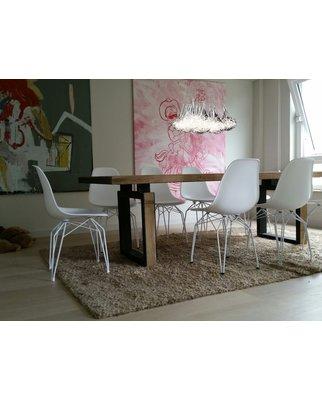 5 fl pendelleuchte mit silberfarbener draht im glas wire 152 00. Black Bedroom Furniture Sets. Home Design Ideas