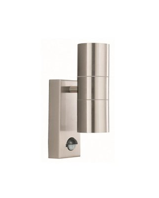 OUTDOOR & PORCH WALL LIGHT - 2 LIGHT STAINLESS STEEL...