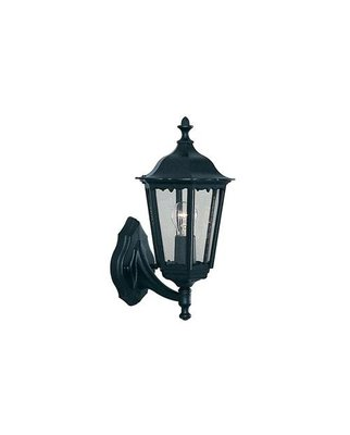 ALEX OUTDOOR WALL LIGHT - 1 LIGHT BLACK UPLIGHT