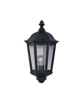 ALEX OUTDOOR WALL LIGHT - 1 LIGHT BLACK HALF