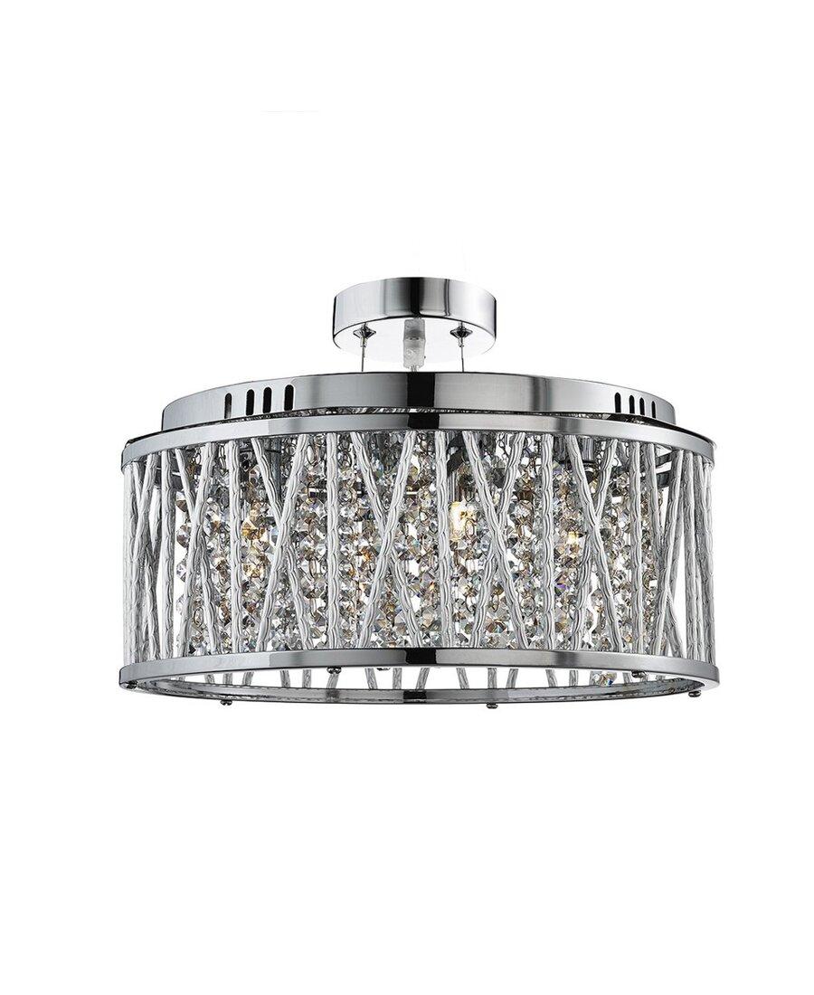 elise deckenleuchte metall chrom glas kristall 240 00. Black Bedroom Furniture Sets. Home Design Ideas