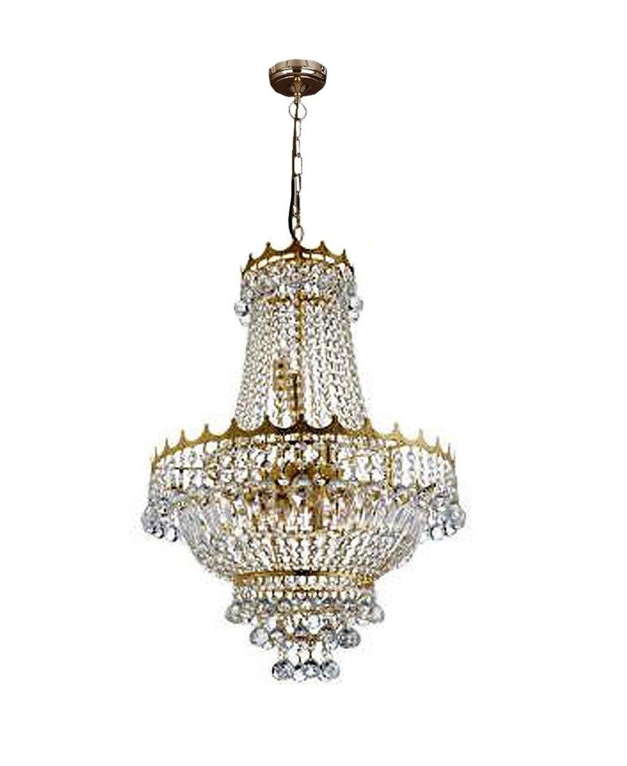 Beeindruckender goldener 9 fl kronleuchter mit kristallen 780 00 e - Kronleuchter mit kristallen ...