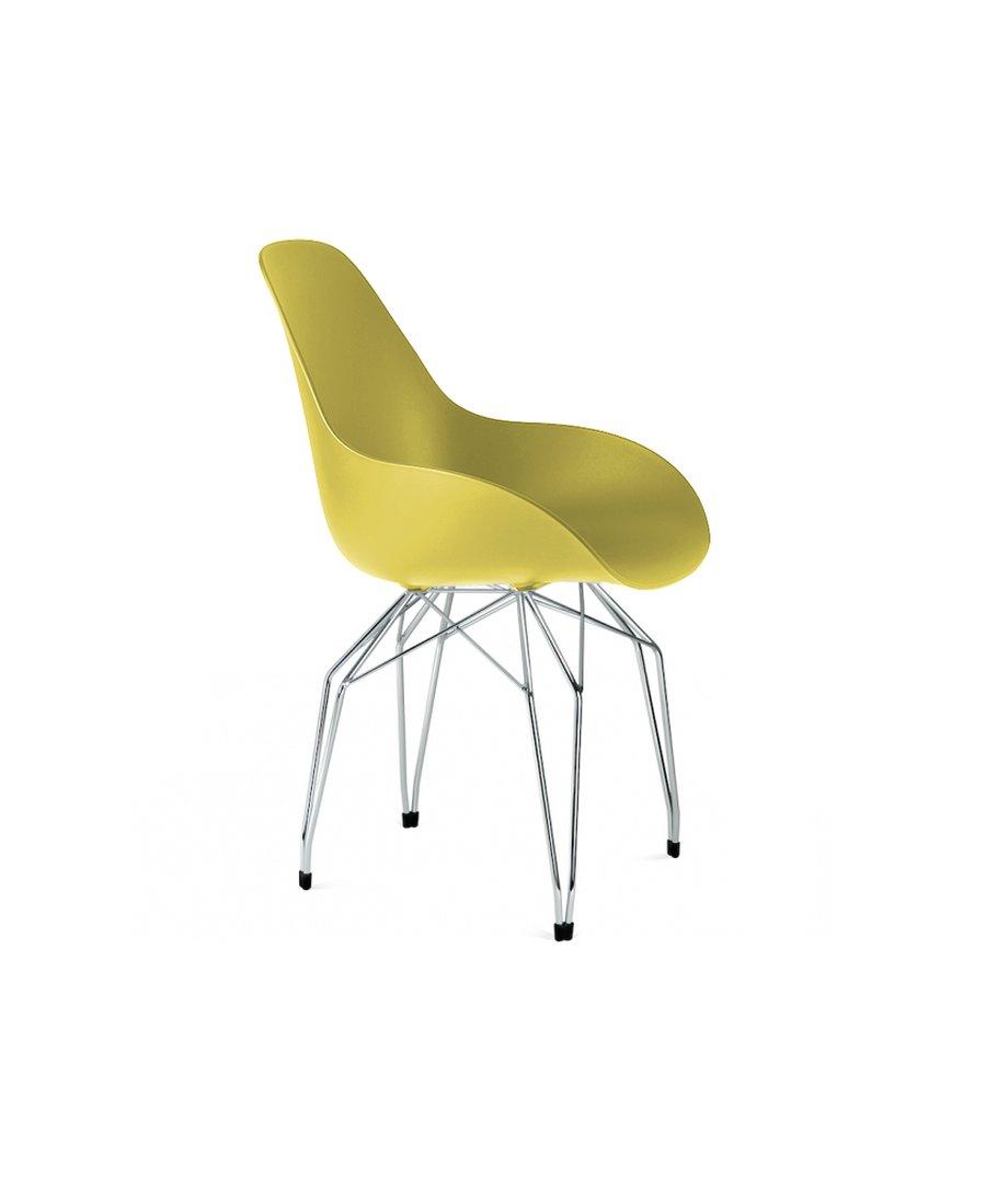 Mustard Chrom169 Designer 00 € Gelb Stühle Diamond zpVSUM