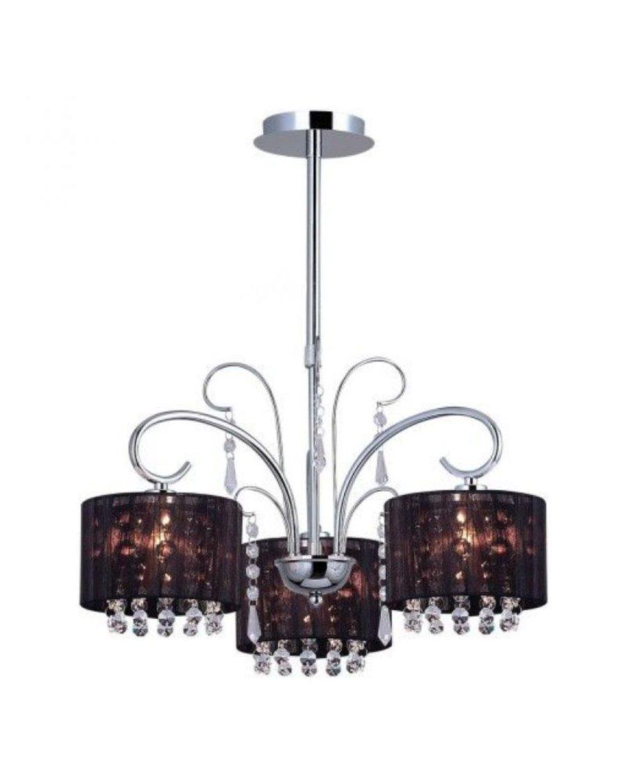 Moderner Kronleuchter, Moderne Lampen, Schwarz / Chrom