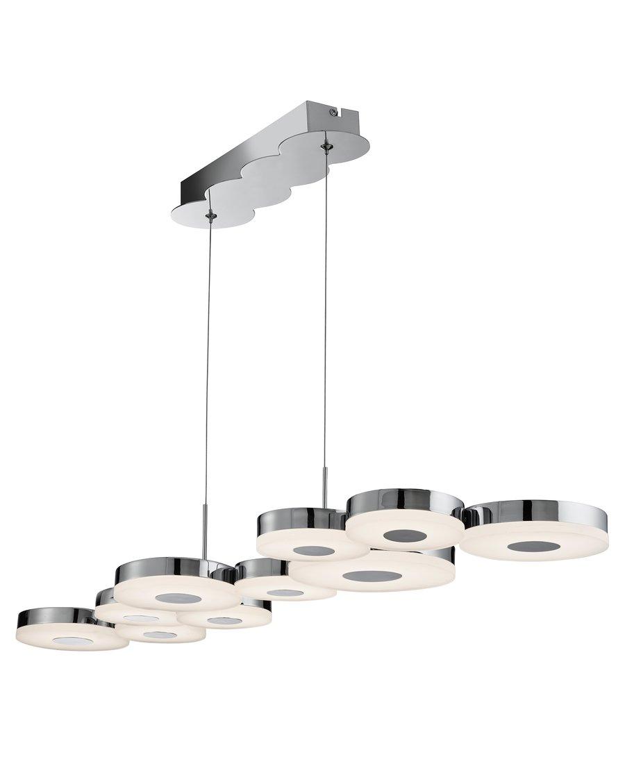 Moderne 10 flammige led pendelleuchte lampe chrom 699 90 for Moderne pendelleuchte led